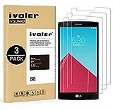 [Lot de 3] LG G4 Protection écran, iVoler Film Protection d'écran en Verre Trempé Glass Screen Protector Vitre Tempered pour LG G4 - Dureté 9H, Ultra-mince 0.30 mm, 2.5D Bords Arrondis- Anti-rayure, Anti-traces de Doigts,Haute-réponse, Haute transparence- Garantie de Remplacement de 18 Mois