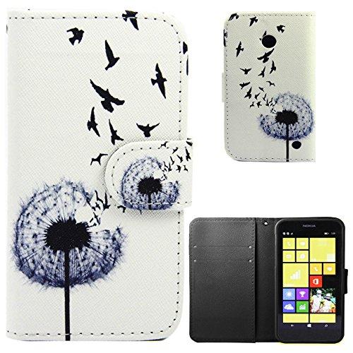 Voguecase® für Apple iPhone 6/6s(4,7 Zoll), Kunstleder Tasche PU Schutzhülle Tasche Leder Brieftasche Hülle Case Cover (Grün Teppich) + Gratis Universal Eingabestift Löwenzahn 14