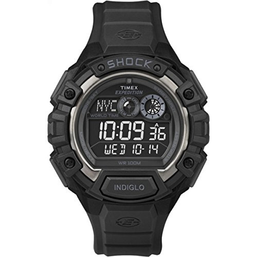 Timex T49970 Mens Black Expedition World Shock Chronograph Watch