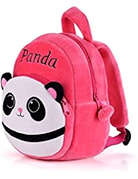 b28f8f287 Frantic Pandora Velvet Panda Design Pink School Bag for 2 to 5 Age Kids