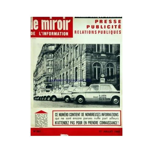 MIROIR DE L'INFORMATION DE LA PUBLICITE ET DES RELATIONS PUBLIQUES (LE) [No 241] du 27/07/1962
