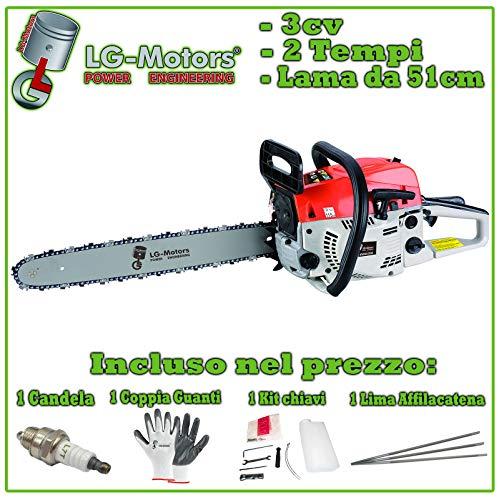 MOTOSEGA A SCOPPIO POTATORE MOTOSERRA LAMA 51cm LG-motors 2 Anni garanzia