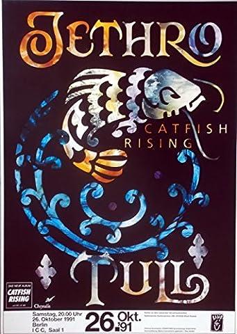 Jethro Tull–1991–Concert Poster–Concert–Catfish Rising–Tour Poster–BER