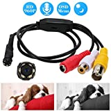 KKmoon 960P Microcamere Spia Nascoste Mini Audio Pinhole a Colori CCTV Telecamera 6pz IR LEDs Visione Notturna 1,3MP per Sicurezza Casa PAL Sistema