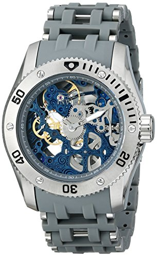 Invicta Men's 1256 Sea Spider Mechanical Skeleton Dial Grey Polyurethane Watch image