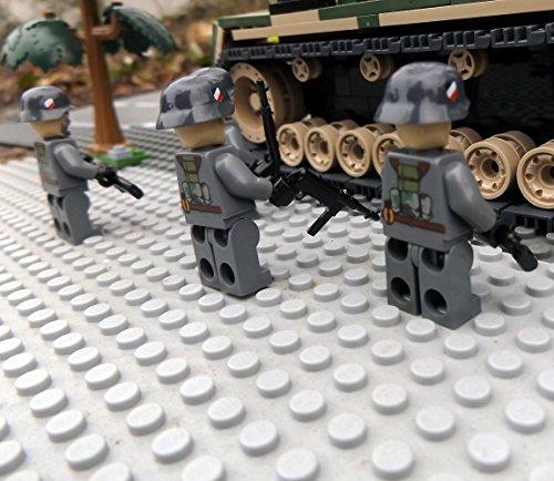 Modbrix 8819 – ✠ 2 Stück Custom Minifiguren Deutsche Wehrmacht Afrika Korps Soldaten aus original Lego® Teilen ✠ - 5