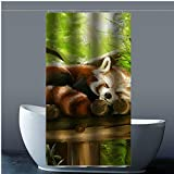 Brauch Funny Cute Red Panda 100% Polyester Fabrik Duschvorhang Shower Curtain 90 Zentimeters x 183 Zentimeters