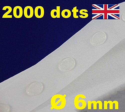 2000 Glue Dots Sticky Craft transparent Karte machen Scrap abnehmbarer 6 mm Glu Punkte Easy/Low Tack -