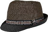 Chillouts Temuco Trilby / Fedora Hut Sommer Hut für Damen & Herren in der Farbe Braun Schwarz S-M