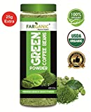 #1: FARGANIC 100% Certified Organic Arabica Green Coffee Beans Powder for Weight Loss (200+25GM)