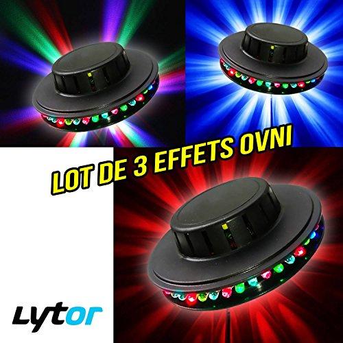Pack Alien–3Spiele von Licht Effekt UFO/UFO zu 3x 48LEDs RGB, Aufstellen oder Aufhängen