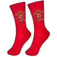Manchester United FC Official Football Gift 1 Pair Mens Dress Socks