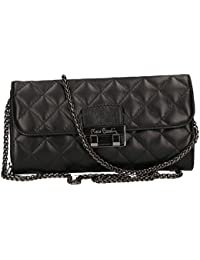 Cartera del bolso mujer de mano PIERRE CARDIN negro cuero Made in Italy VN20