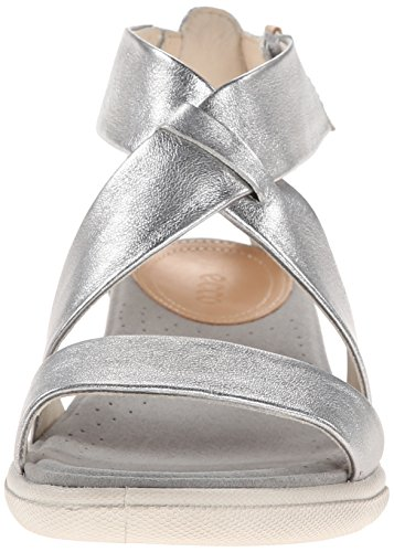 ECCO - Damara, Scarpe con cinturino Donna Argento (Silber (Sandal Alusilver Lexi01708))