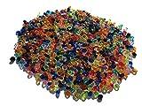CRYSTAL KING 1500 Stück 5mm Glitzernde Bunte Deko Diamanten Brillianten Strasssteine Acrylsteine transparent klar kristall basteln Gltzersteine Schmucksteine Strass Steine zum Verzieren Dekorieren