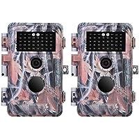 BlazeVideo Cámaras de Caza 16MP 1080P, Cámara de Seguridad de Vigilancia para Animales y Aves