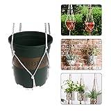 Kofun Seilkorb Vintage Garten Makramee Pflanze Aufhänger Blumentopf Hanging Halter Werkzeug 150 cm