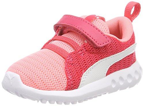 Puma Unisex-Kinder Carson 2 V Inf Sneaker, Pink (Soft Fluo Peach White), 27 EU