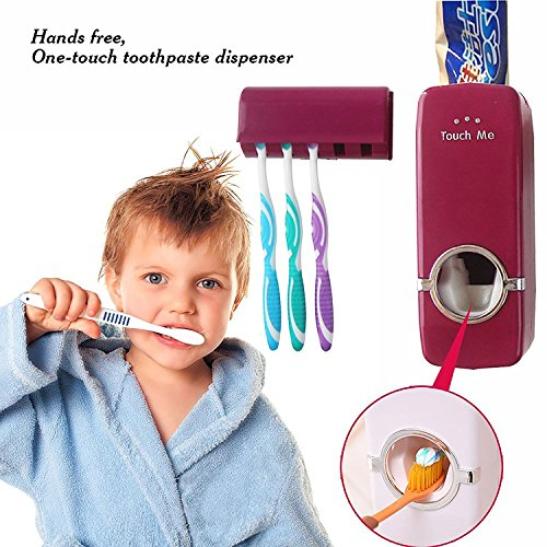 Styleys Automatic Toothpaste Dispenser and 5 pcs Toothbrush Holder Sets