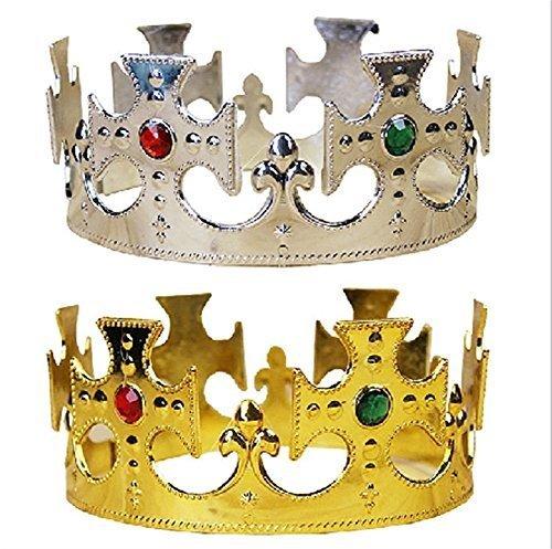 Preisvergleich Produktbild Gold Crown Silver Crown zwei Set Geburtstagsparty wie [Gold und Silber] h1 [Heutige Protagonist wird Ihnen bestimmt]