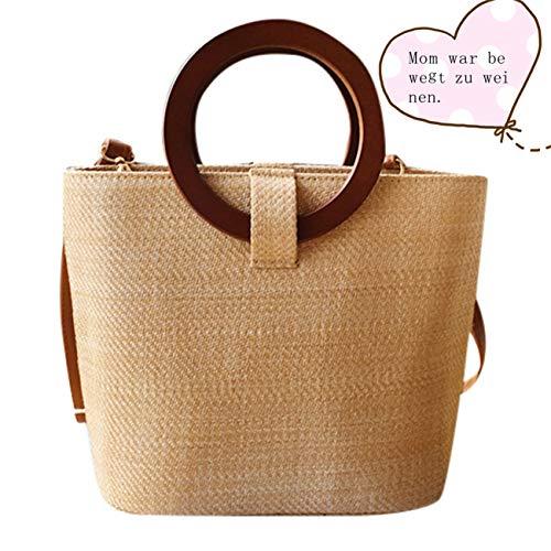 Mypace Groß Klein Umhängetasche Leder Tasche Für Damen Mode Dame Vine Grass Woven Ring Handtasche vielseitige Umhängetasche Messenger Bag -