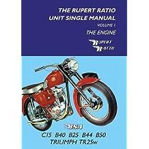 The Rupert Ratio Unit Single Engine Manual: Volume 1: The Engine BSA C15, B40, B25, B44, B50, Triumph TR25W by Rupert Ratio (7-Aug-2014) Paperback