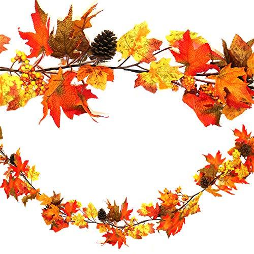 Herbst Kürbis Wandbehang Girlande: Erntedankfest/Halloween Dekoration 160cm -