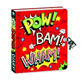 Peaceable Kingdom 5874 Secret Diary - Shiny Foil Super Hero - 208 Lined