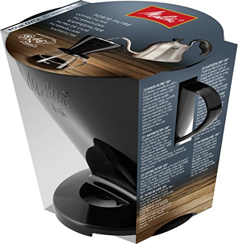 Melitta Kaffeehalter für Filtertüten, Kaffeefilter 1x6 Standard, Kunststoff, Schwarz, 217571 - 1 Tasse Kaffee-filter