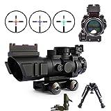 Binocoli da fucile con bipodi, Lovebay 4x32 EG fucile cannocchiali Ambito di Airsoft con visualizzazione ottica in fibra Mirini (12 mesi di garanzia)