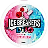 Ice Breakers Duo Fruit + Cool Mints, Raspberry, 36 Grams Container
