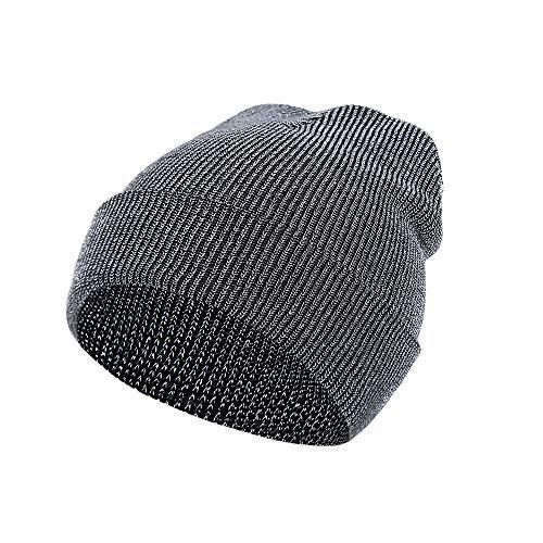 BURFLY Herren Damen Dicke Zopfstrickmütze Skull Cap Unisex Wintermütze Baggy Warm Slouchy Caps Hut ()