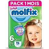 Molfix Twin Pack de 96 Couches 15 + kg 1 Mois Taille 6 -