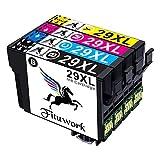 Fituwork 29XL 29 XL Reemplazo para Epson 29XL 29 XLCartuchos de tinta Compatible con Epson Expression Inicio XP-235 XP-332 XP-335 XP-432 XP-245 XP-247 XP-342 XP-345 XP-435 XP-442 XP-445(4 Paquetes)