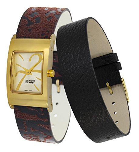 Moog Paris Dome Women's Watch with Gold Dial, Eclectic Strap in Jeans - M41662-408