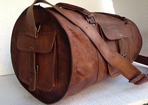 Vintage Crafts Leather Weekend Bag Leather Sports Bag Leather Overnight Bag Leather Duffel Leather Travel Bag
