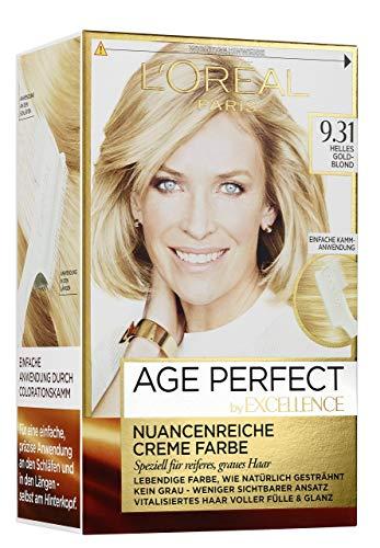 L\'Oréal Paris Excellence Age Perfect 9.31 helles goldblond 1er Pack (1 x 1 Stück)