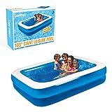 Gardenkraft Opblaasbaar zwembad, rechthoekig, 2,62 m