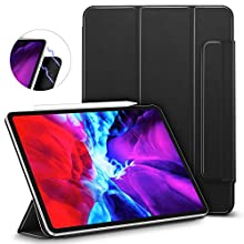 "ESR Rebound Magnetic Smart Case for iPad Pro 12.9"" 2020/2018, Convenient Magnetic Attachment, Auto Sleep/Wake Trifold Stand Case - Black"