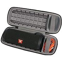 Hart Reise Schutz Hülle Etui Tasche für JBL FLIP 4 / 3 Ein voll ausgestatteter wasserdichter und mobiler Bluetooth-Lautsprecher von co2CREA (Black hard case)