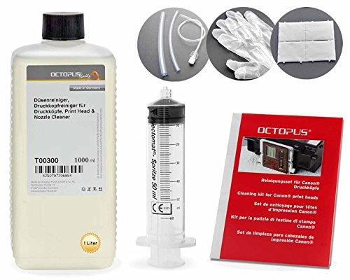 nreiniger, Druckkopfreiniger für Canon Pixma Druckköpfe mit Schlauchadaptern (1000 ml) ()