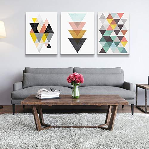 ZEMER Mural Cuadros En Lienzo Moderno Simple Geométrico Abstracto Nórdico Estilo Sala De Estar Decoración De La Casa Imagen Sin Marco