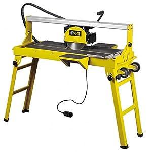 Fartools 113611 Coupe carrelage électrique radial Coupe 48 mm Lame 200 x 22,2 x2 mm Table inclinable visée laser 1200 W