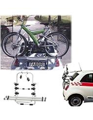 Einfacher Fahrrad-Heckträger 90306474 zum Transport von 3 Rädern auf der Heckklappe für Volkswagen (VW) Golf Variant SW (VI) - inkl. Adapter und Montagesatz