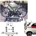 Einfacher Fahrrad-Heckträger 90306191 zum Transport von 3 Rädern auf der Heckklappe für Alfa Romeo 166 - inkl. Adapter und Montagesatz