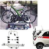 Einfacher Fahrrad-Heckträger 90306383 zum Transport von 3 Rädern auf der Heckklappe für Opel Astra Tourer SW (J) - inkl. Adapter und Montagesatz