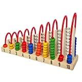 Trinkets & More - Wooden Calculation Shelf Abacus Double-Sided | Counting Addition Subtraction Maths | Early Educational Kit STEM Toy for Kids 3+ years