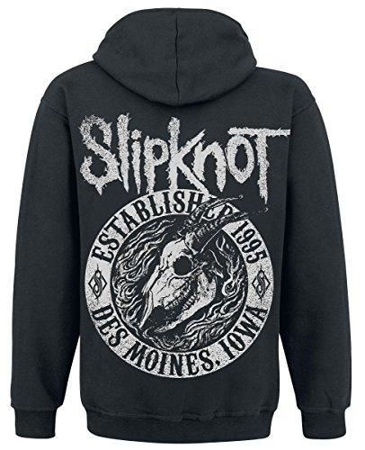 Slipknot Flaming Goat Sweat à capuche zippé noir Noir
