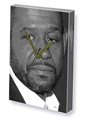 FOREST WHITAKER - Canvas Clock (A5 - Signed by the Artist) #js002