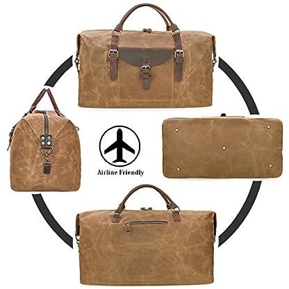 Reisetaschen-Herren-Leder-Wasserdicht-Canvas-Weekender-Tasche-Groen-Kapazitt-Reisetasche-Unisex-Vintage-Handgepck-Bag-Braun